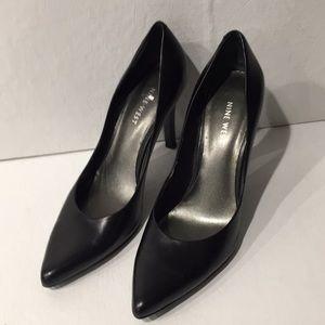 """9 West Genuine Black Leather Heels 7 1/2"""""""